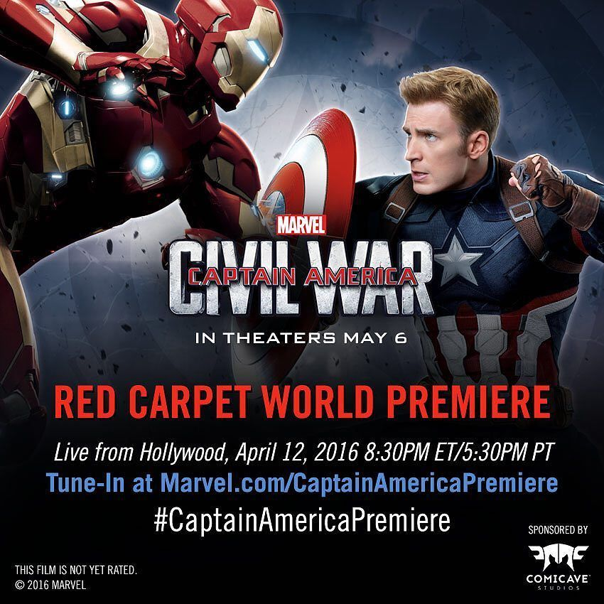 Tomorrow! We'll be live on the #CaptainAmericaPremiere red carpet in Hollywood. Tune in to watch our interviews with the cast and more!  by marvel