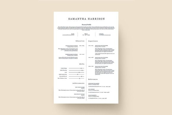 Resume Template 003 for Photoshop Resume architecture, Unique - unique resume format