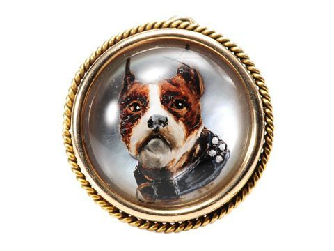 Victorian Dog Essex Crystal Pendant Victorian Engagement Rings