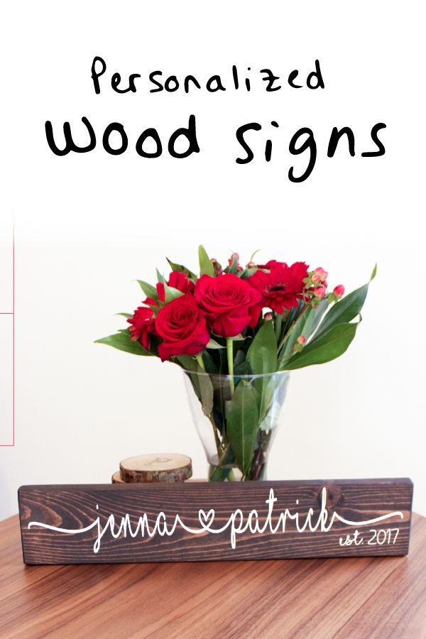 Wedding Gift Idea Personalized Wood Sign For Couples Garden