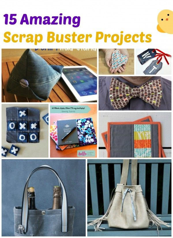 Amazing Scrap Buster Projects | Freebooks, Nähideen und Nähen
