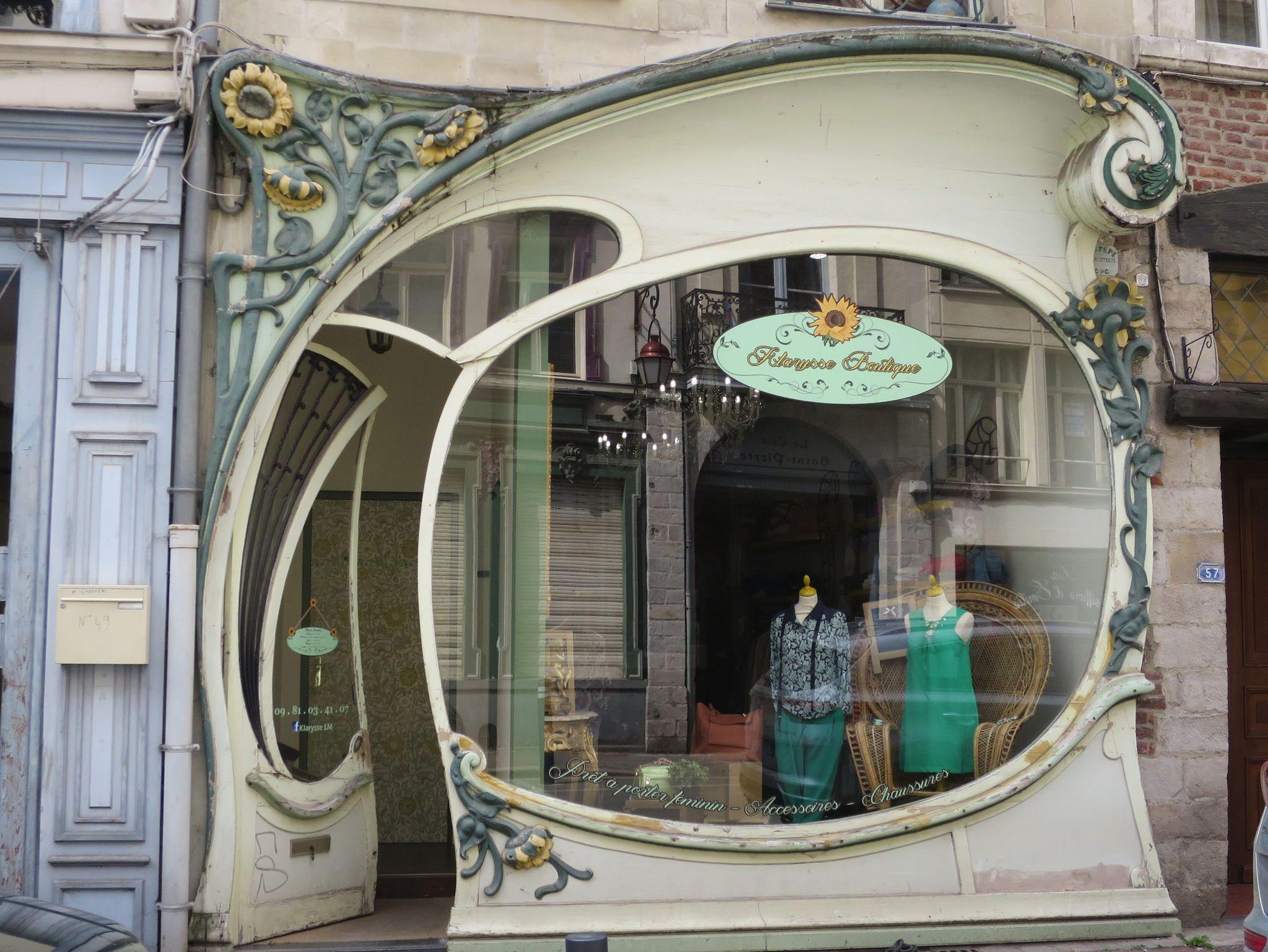 Boutique Art Nouveau Vers 1900 Rue Jean Bellegambe Douai 59 Art Nouveau Architecture Art Nouveau Interior Art Nouveau