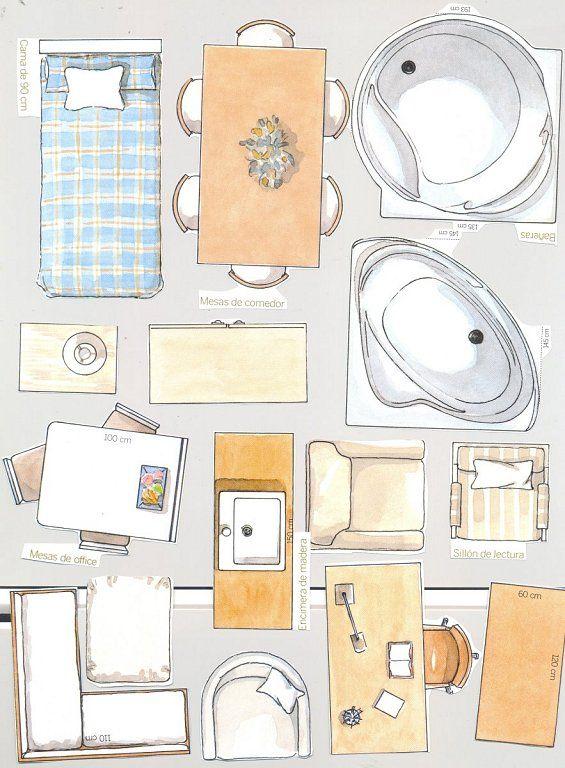 Muebles recortables para casas de mu ecas buscar con for Casas y cosas