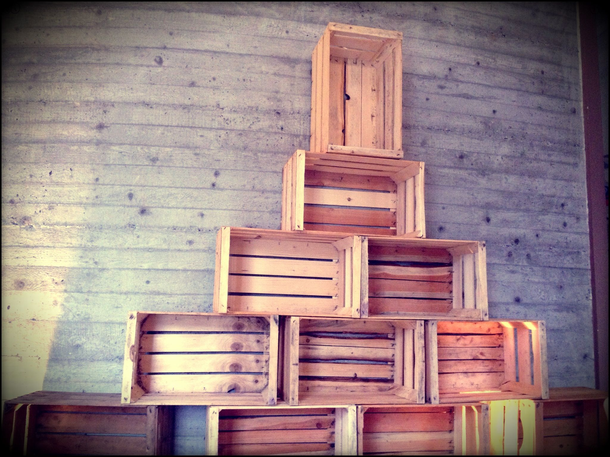 Wooden Crates Christmas Tree