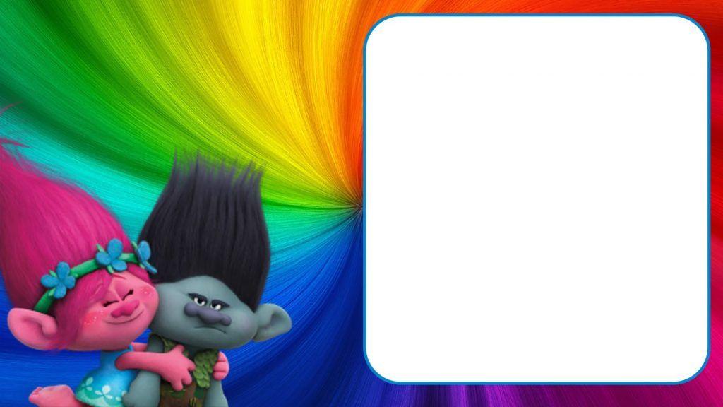 Printable Trolls Invitation Template