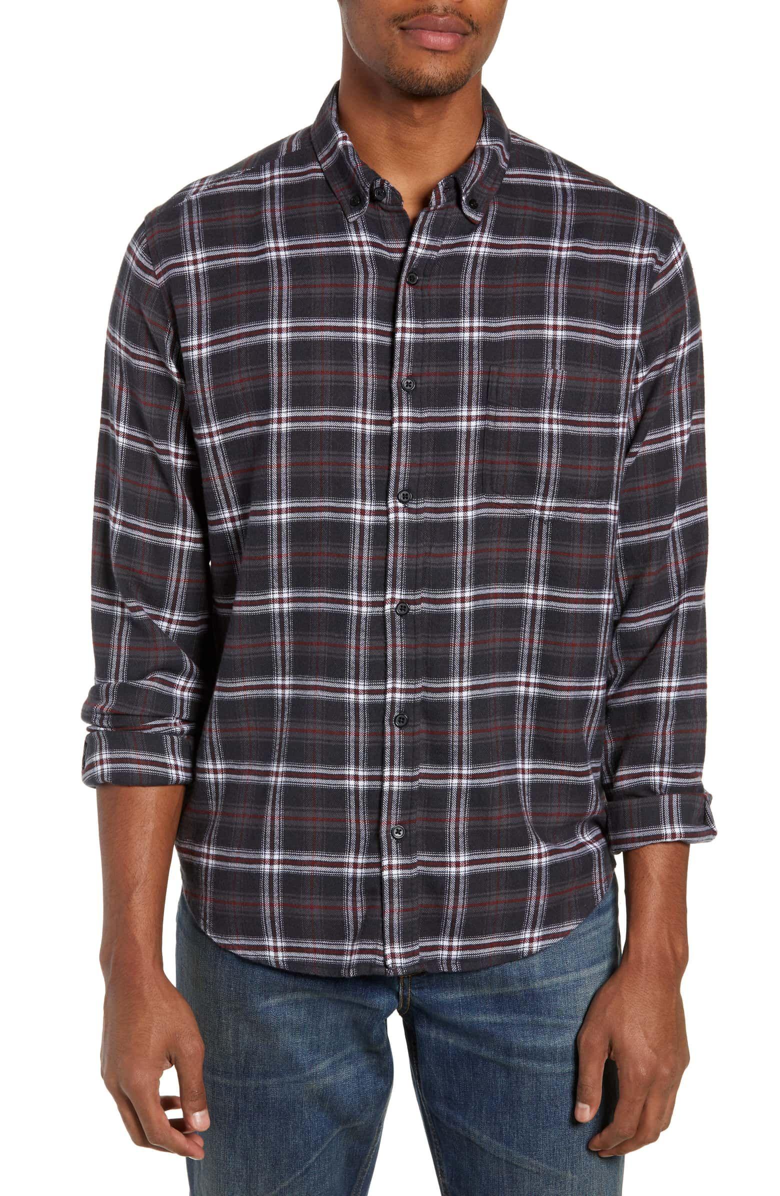Alion Mens Short Sleeve Casual Button Down Shirt Plaid Checkered Work Shirts