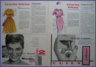 Ingrids Påklædningsdukker: Tempo 1958 - 1959 Caterina Valente