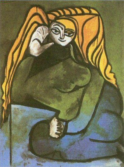 "Pablo Picasso - ""Portrait of Madame Helene Parmelin"". 1952"