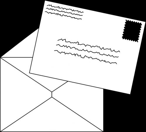 De brief die America ontvangt met het formulier verandert