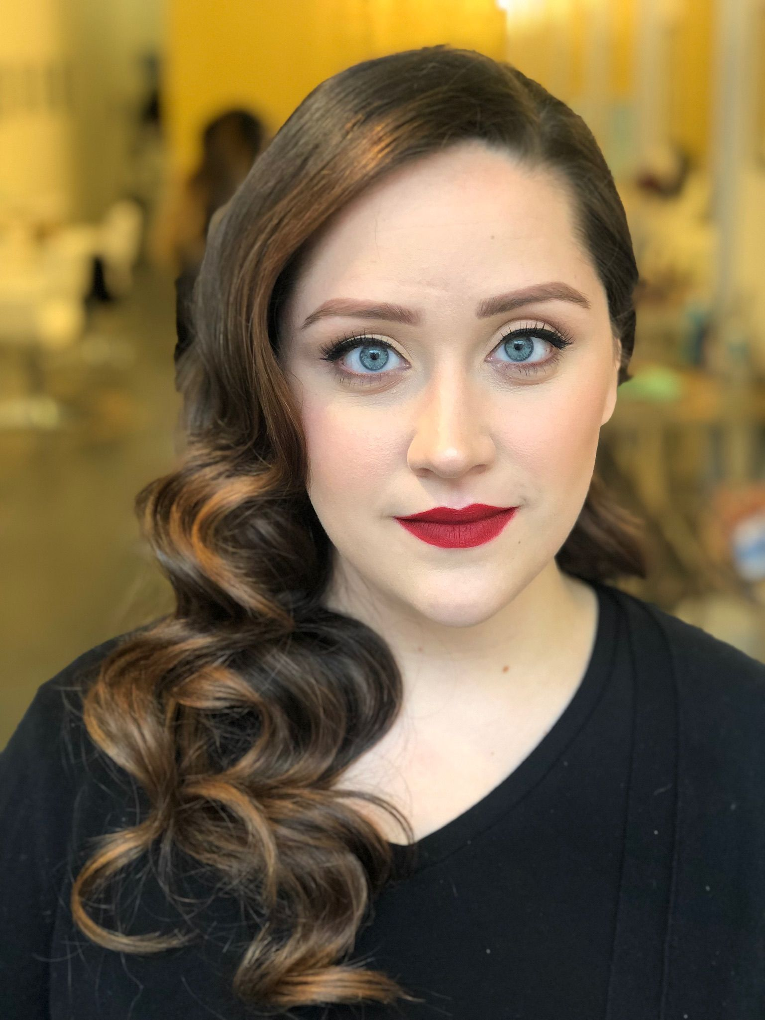 Classic Makeup Hollywood Waves For Prom Hairstyle Makeup By Goldplaited Hollywood Curls Old Hollywood Hair Hollywood Hair