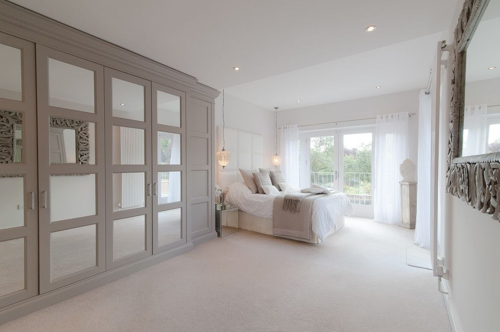 good looking mirror closet doors look south east transitional bedroom decorating ideas with bed throw bedroom - Cream Bedroom Ideas