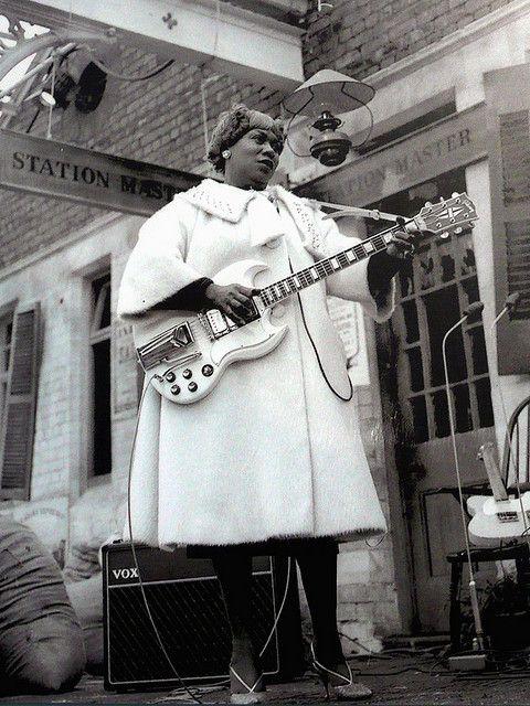 Sister Rosetta Tharpe waiting for The Blues Train in Chorlton, 1963 ...