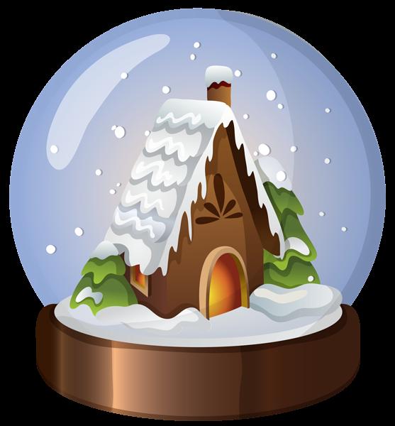 Christmas House Snow Globe Png Clip Art Image Christmas Snow Globes Snow Globes Christmas Art