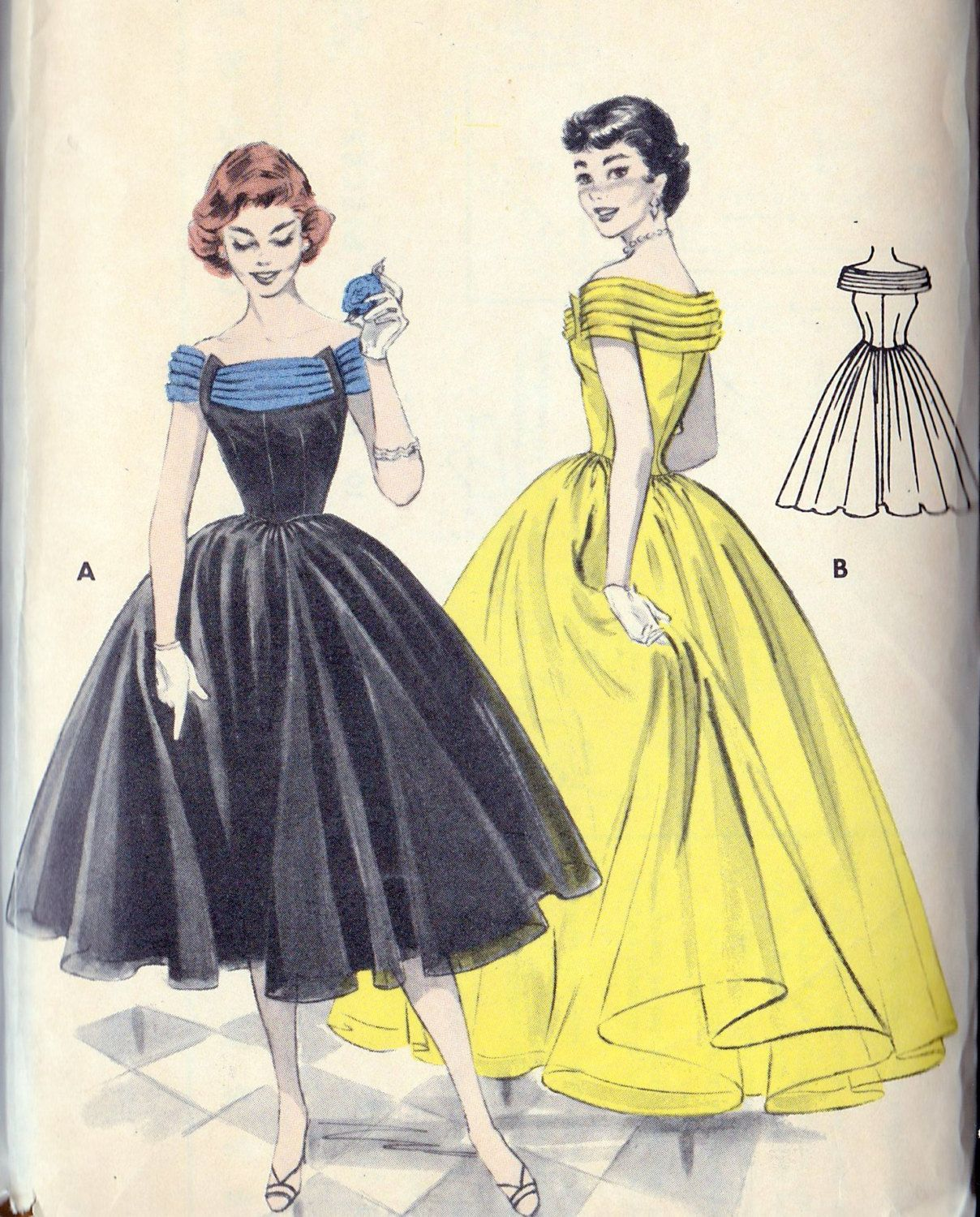 1950s Ball Gown, Evening Gown, Prom Dress, Bridesmaid Dress Vintage ...