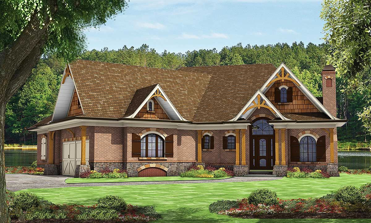 Plan 15869ge Tranquility In A Small Footprint Craftsman Style House Plans Craftsman House Mountain House Plans