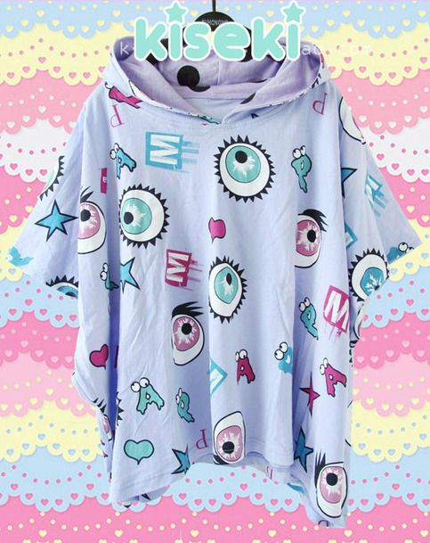 Hooded+Tshirt+Kyary+Pamyu+Pamyu's+Ponponpon+MV.+    It's+one+size+fits+all,+so+read+faq's+before+any+purchasing.+    FREE+SHIPPING!+(´・ω・)っ由