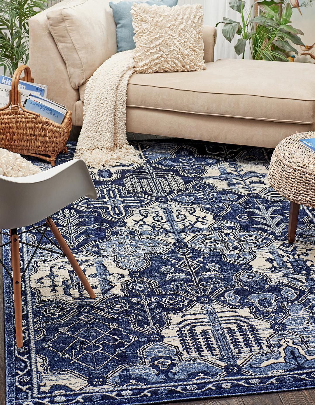 Blue 5 X 8 Vista Rug Area Rugs Esalerugs Navy And White