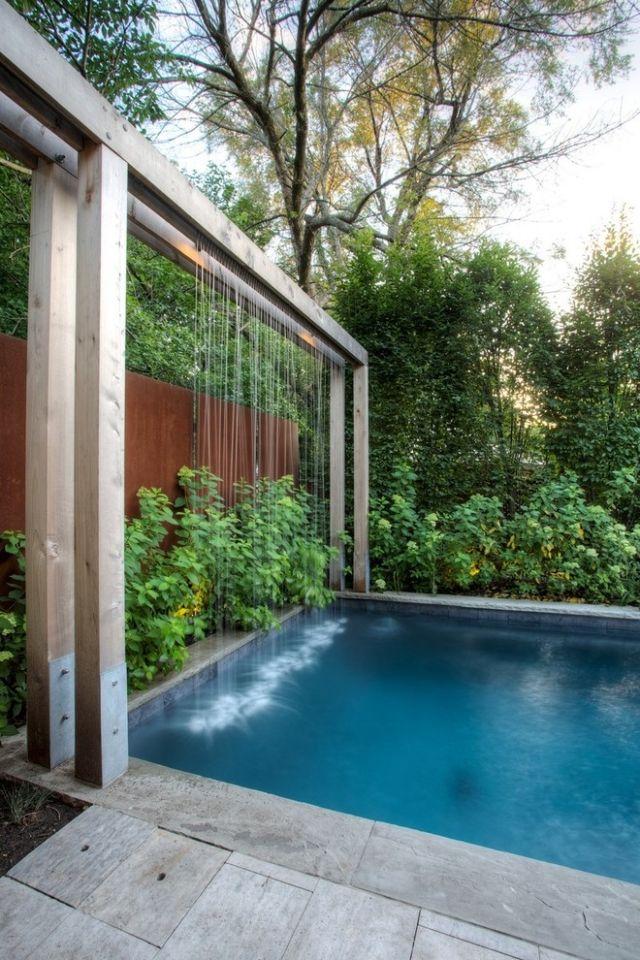 Wasserspiele Schaffen Moderne Effekte Neuartige Gartendekoration Mit  Beleuchtung | Pool | Pinterest | Pórticos, Divisão E Chuveiro