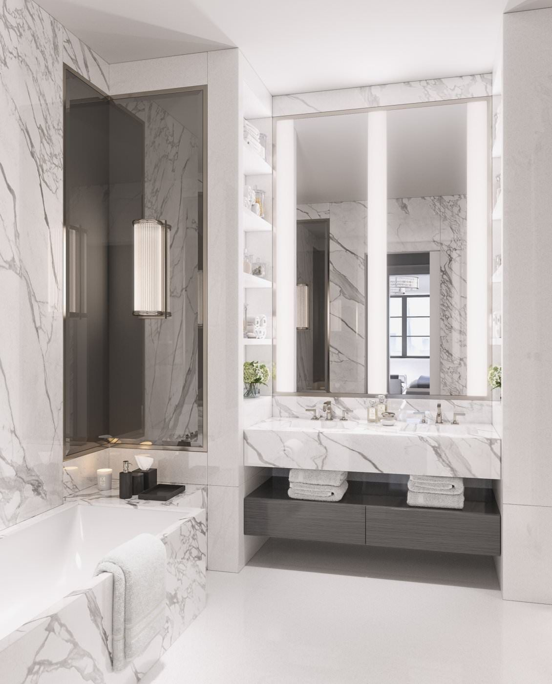 Two Bedroom Apartments In New York City: Luxury Interior Design Of Apartment In Brownstone