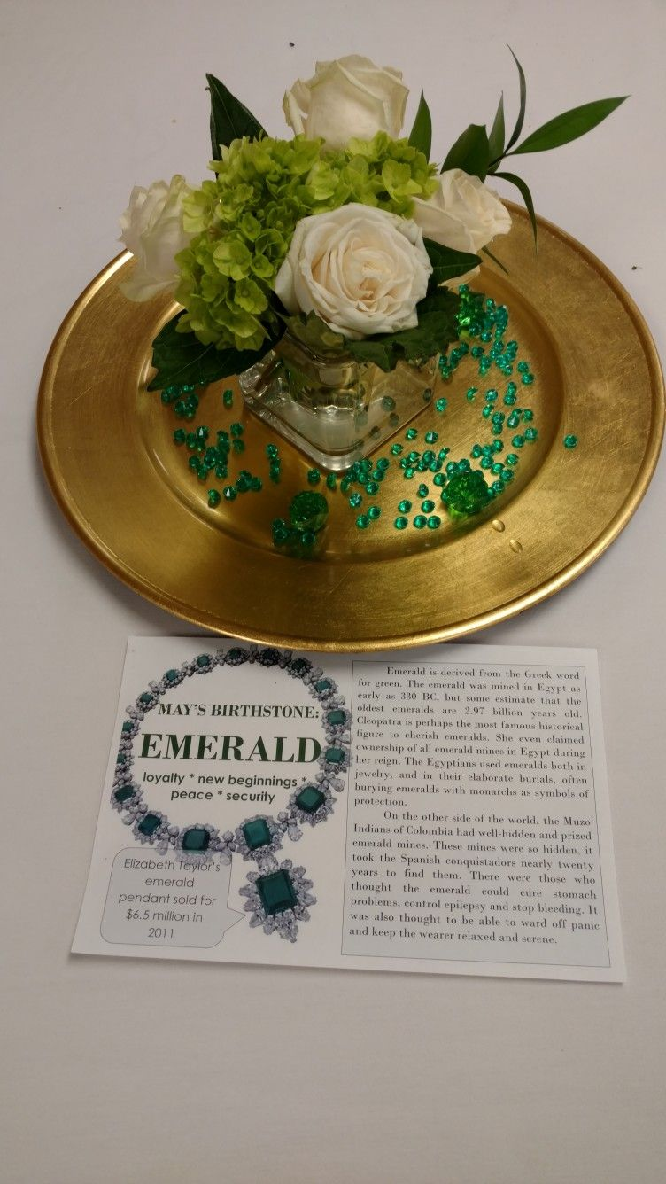 Emerald Birthday Party I Purchased The Jewels And Gems From Oriental