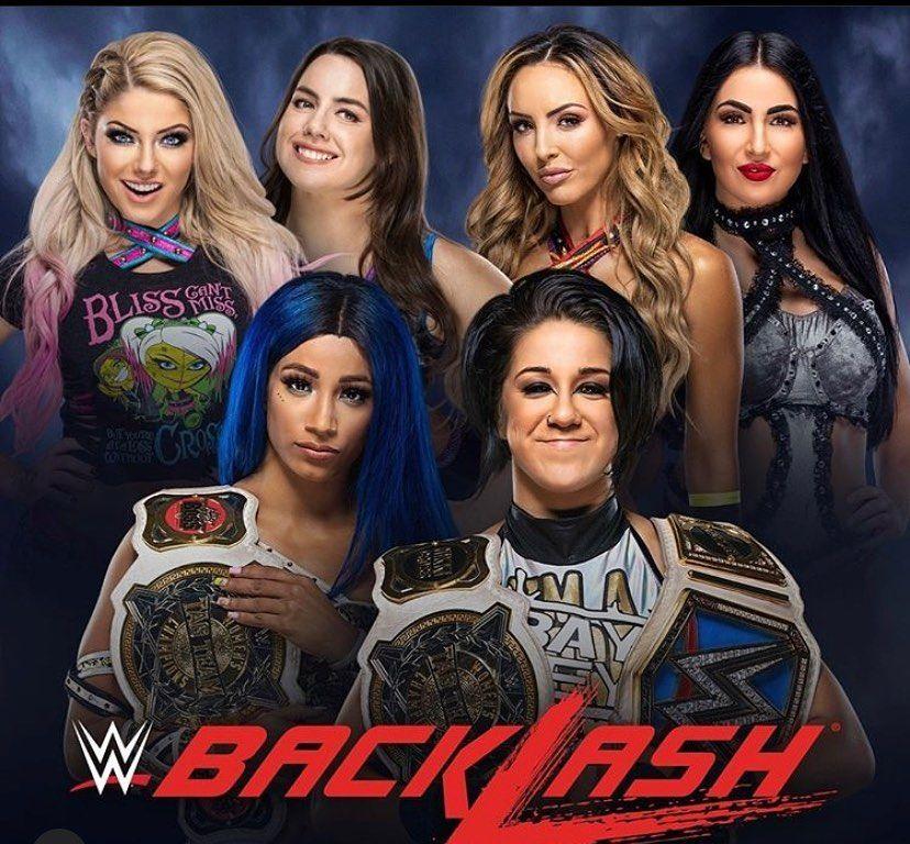 Breaking: announced for #WWEBacklash ppv a #womenstagteamchapionship match announced in a #triplethreat teams of @alexa_bliss_wwe_ & @nikkicrosswwe vs @peytonroycewwe & @billiekaywwe vs @sashabankswwe & @itsmebayley  #SashaBanks #Bayley #AlexaBliss #NikkiCross #PeytonRoyce #BillieKay #TheIIconics #WWE #WWEUniverse #PPV #Breaking #Wrestling #WrestlingNews #WrestlingIsLife #WomensWrestling #Follow #Like #Photooftheday #Instagood #Fierce #Queens #Awesome #Amazing #beautiful #powerfulwomen #yas #gay