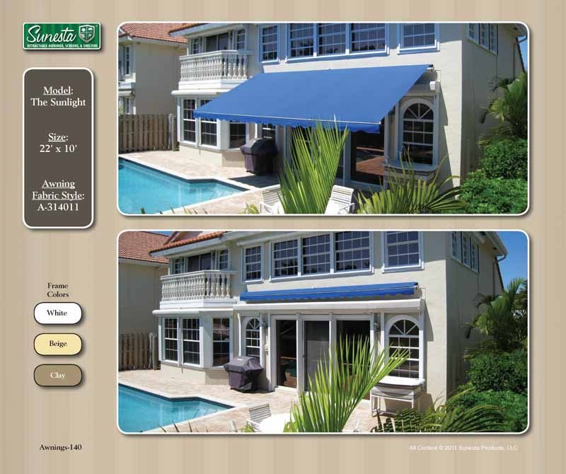 NC Awning Retractable Awning | Sunesta | Gallery Atlantic ...