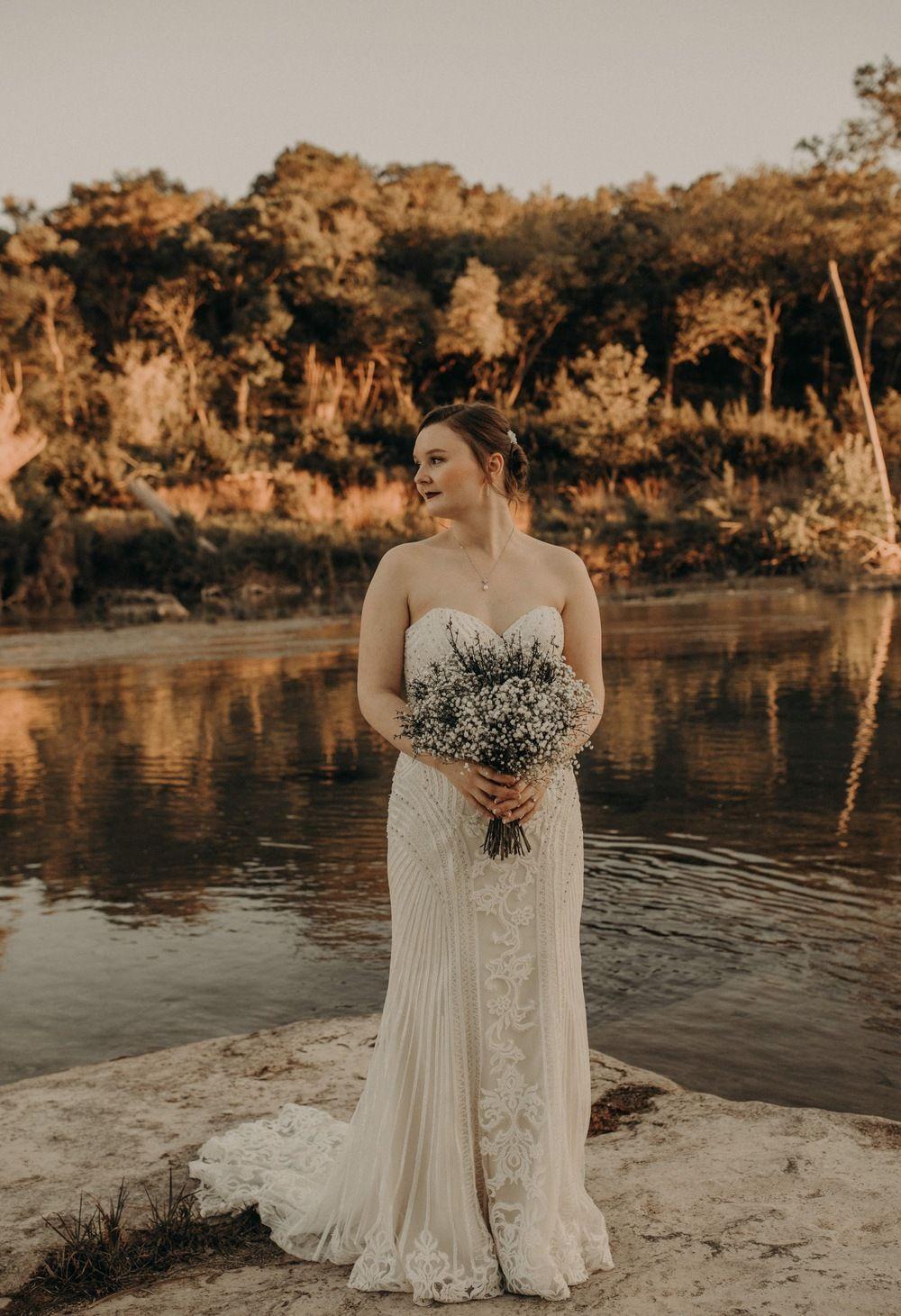 Waters Point Wedding in Wimberley, Texas Bohemian