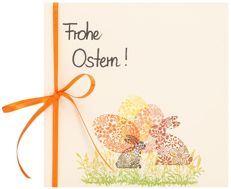 karte fur ostern http www basteln mit buttinette de