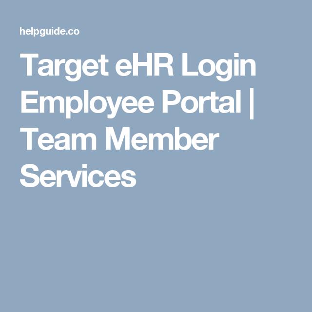 Target eHR Login Employee Portal   Team Member Services   Customer