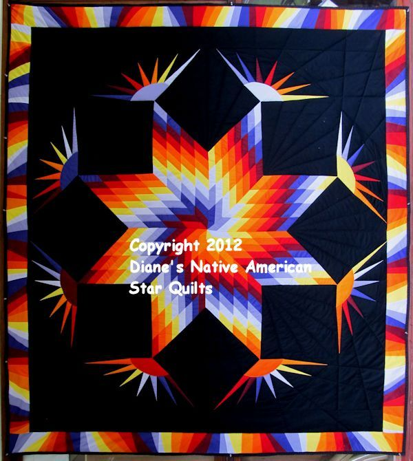 Dancing Eagles Star Quilt Pattern | Dianes Native American Star ... : native american quilt block patterns - Adamdwight.com