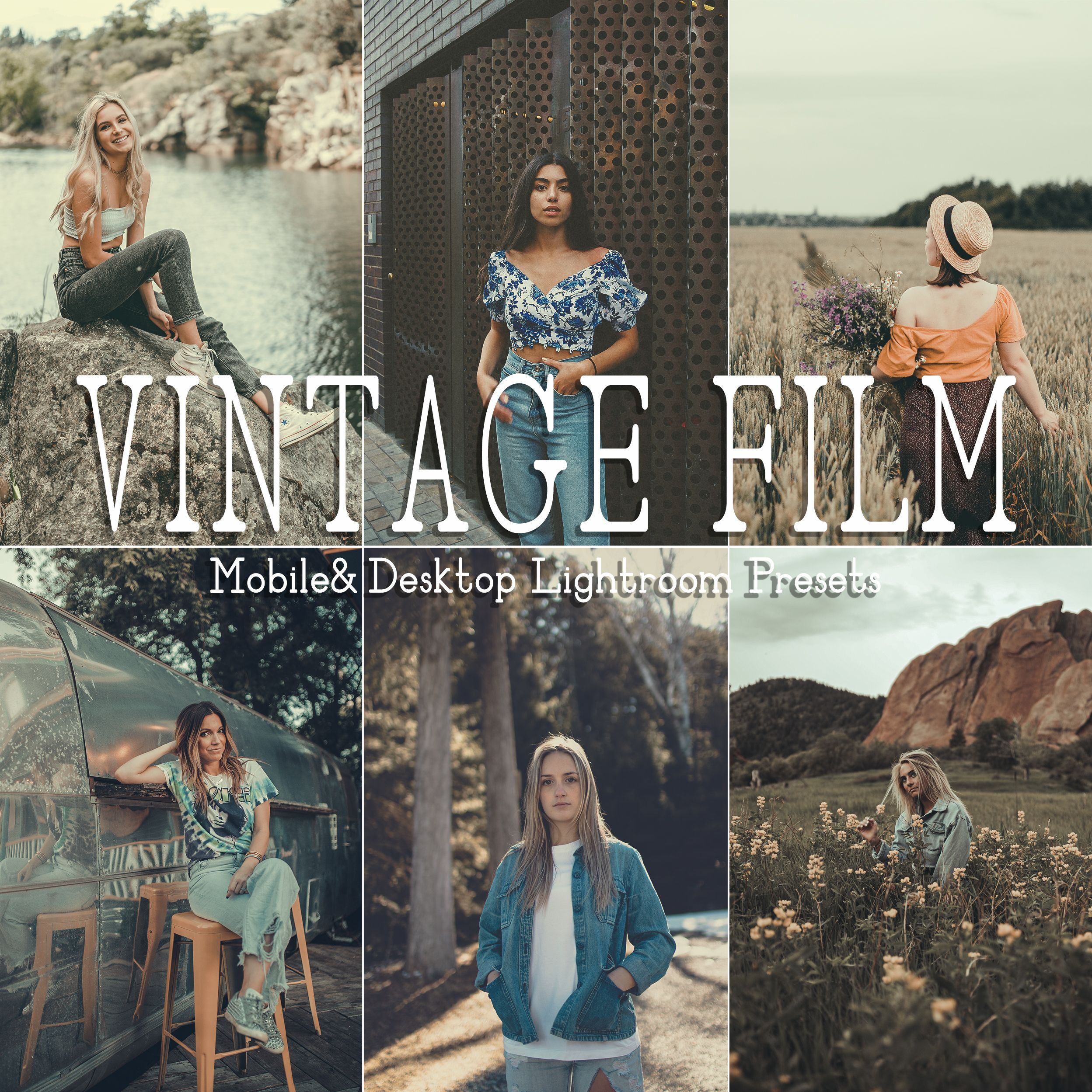 10 Vintage Film Mobile Desktop Lightroom Presets Filtergrade In 2020 Vintage Film Film Presets Lightroom Film Presets