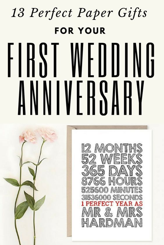 13 Wedding Anniversary Gifts: 13 Paper Gifts For Your First Wedding Anniversary