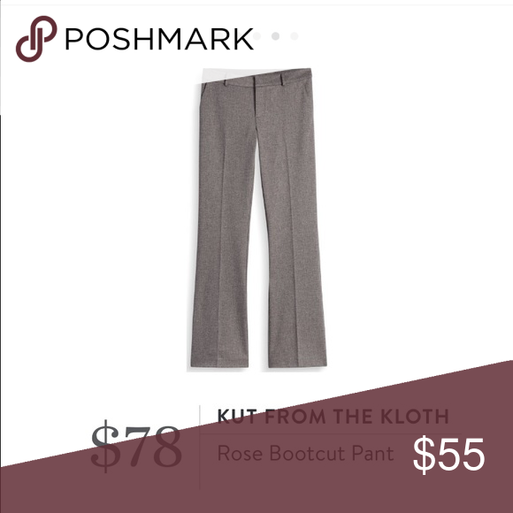 Kut from the Kloth (Stitch Fix) Great Kut from the Kloth Pant! They are cinnamon in color and can go with anything. They have a spandex mix, so there is lots of stretch and comfort. Size 8. NWT Kut from the Kloth Pants Boot Cut & Flare
