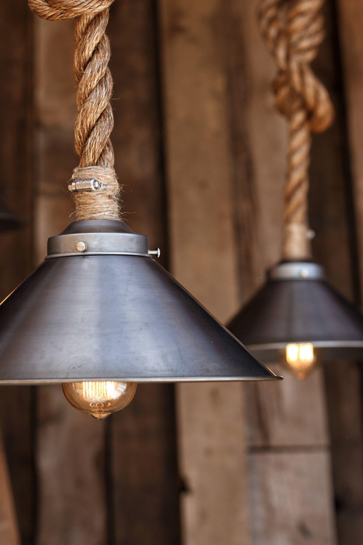 The Factory Steel Pendant Light Industrial Manila Rope Lighting Rustic Swag Ceiling La Steel Pendant Light Industrial Pendant Lights Hanging Light Fixtures