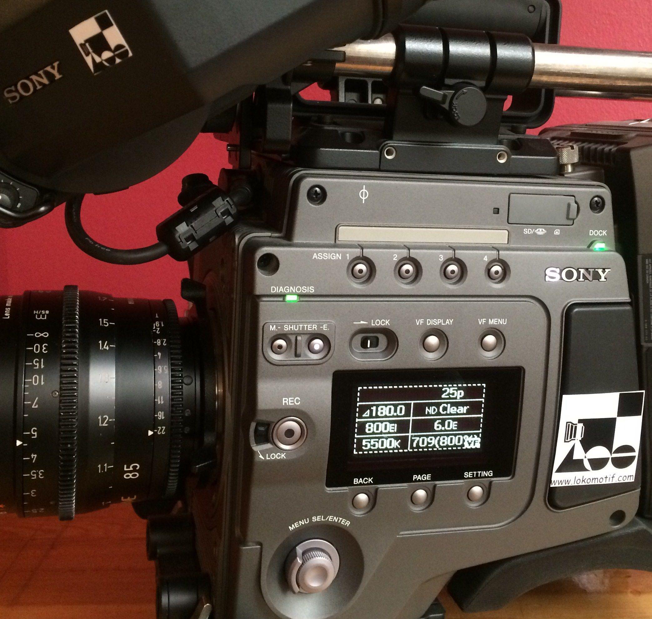 Ülkemizin en yeni Sony F65 kamerası çekeceği filmleri gözlüyor...  www.lokomotifkamera.com