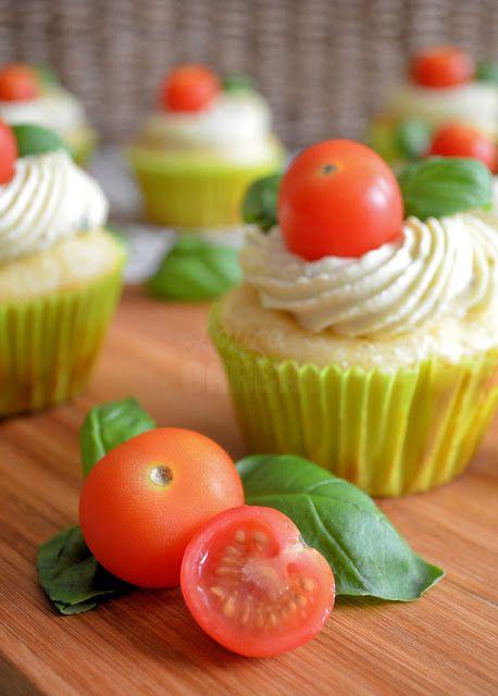 Hartige caprese cupcakes