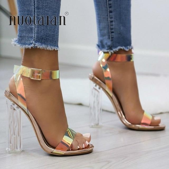 Holographic heels, Stiletto heels