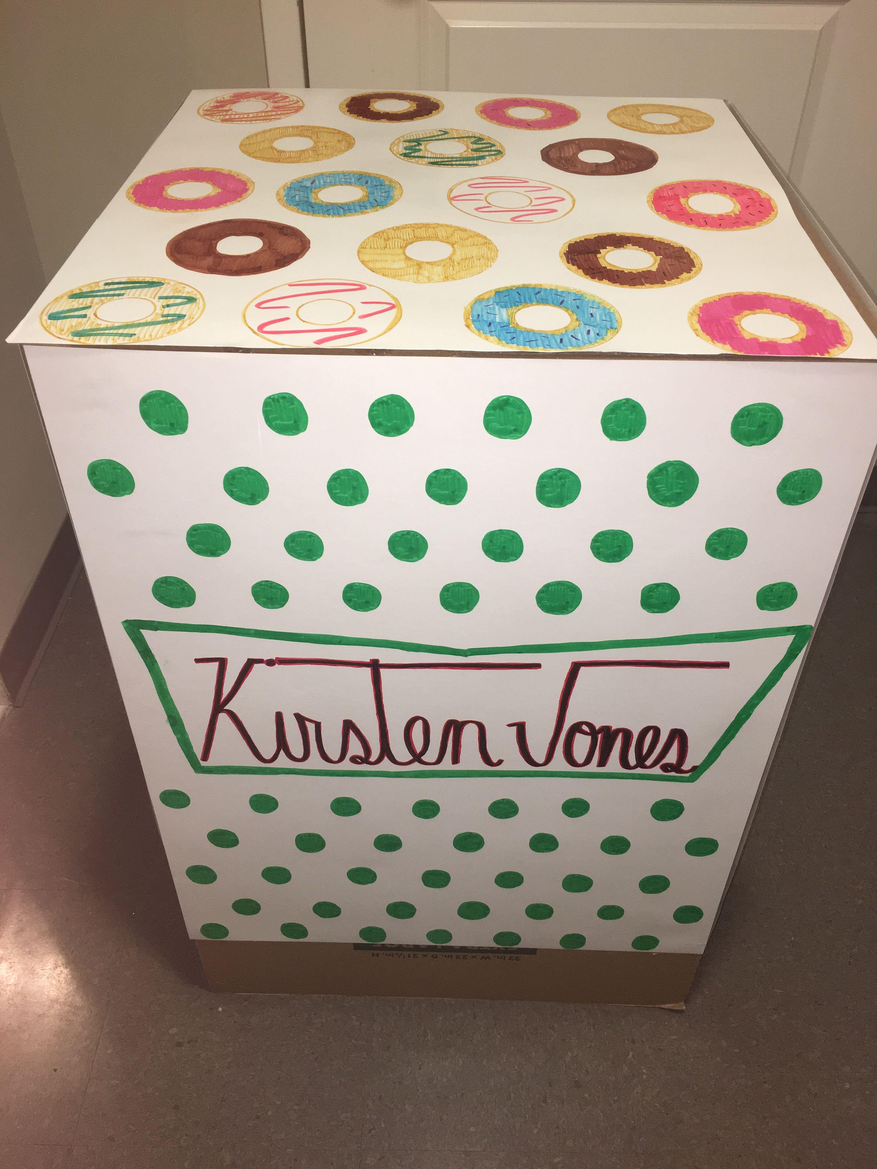 Krispy Kreme Donut sorority big little reveal box idea #biglittlereveal