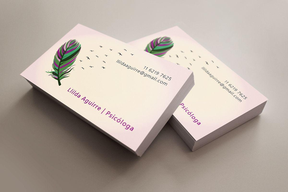 Dise o tarjetas de presentacion psicologia buscar con - Disenos para tarjetas ...
