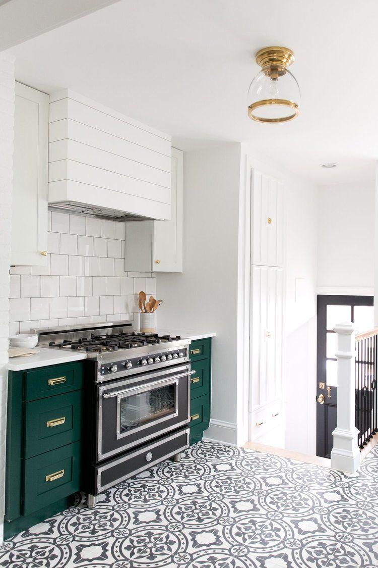 Denver Tudor Reveal | Open shelving, Vintage kitchen and Cement