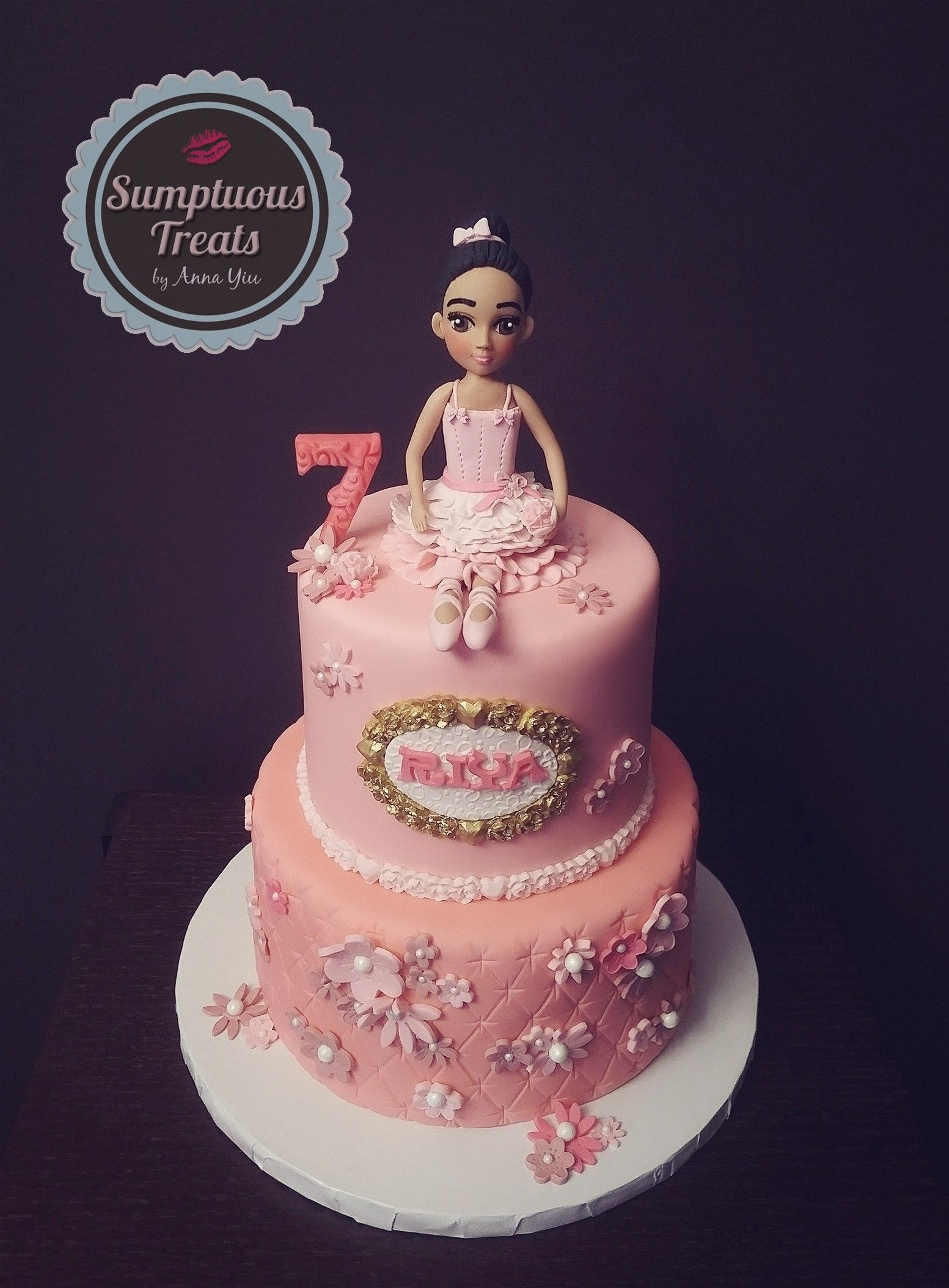 Pink Ballerina Themed Birthday Cake CustomMadeToOrder Cakes
