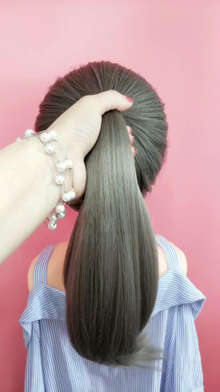 Tiktok Ponytail Hairstyles Tutorial Hair Styles Ponytail Styles