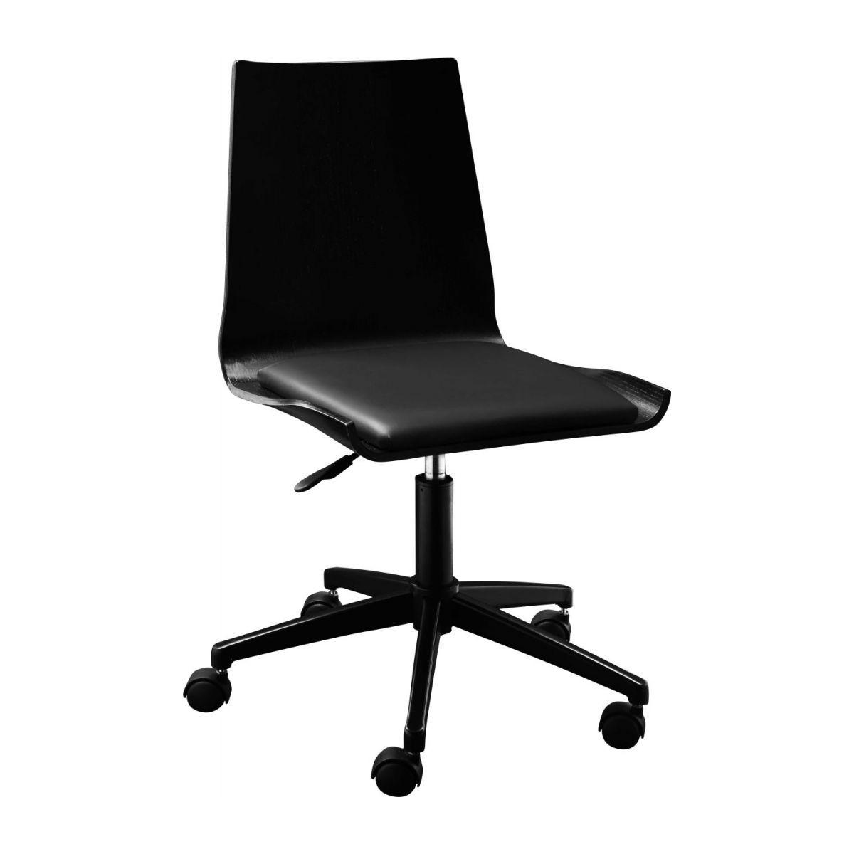 Gandhi Chaise De Bureau A Roulette Noire En Chene Chaise Furniture Office Chair