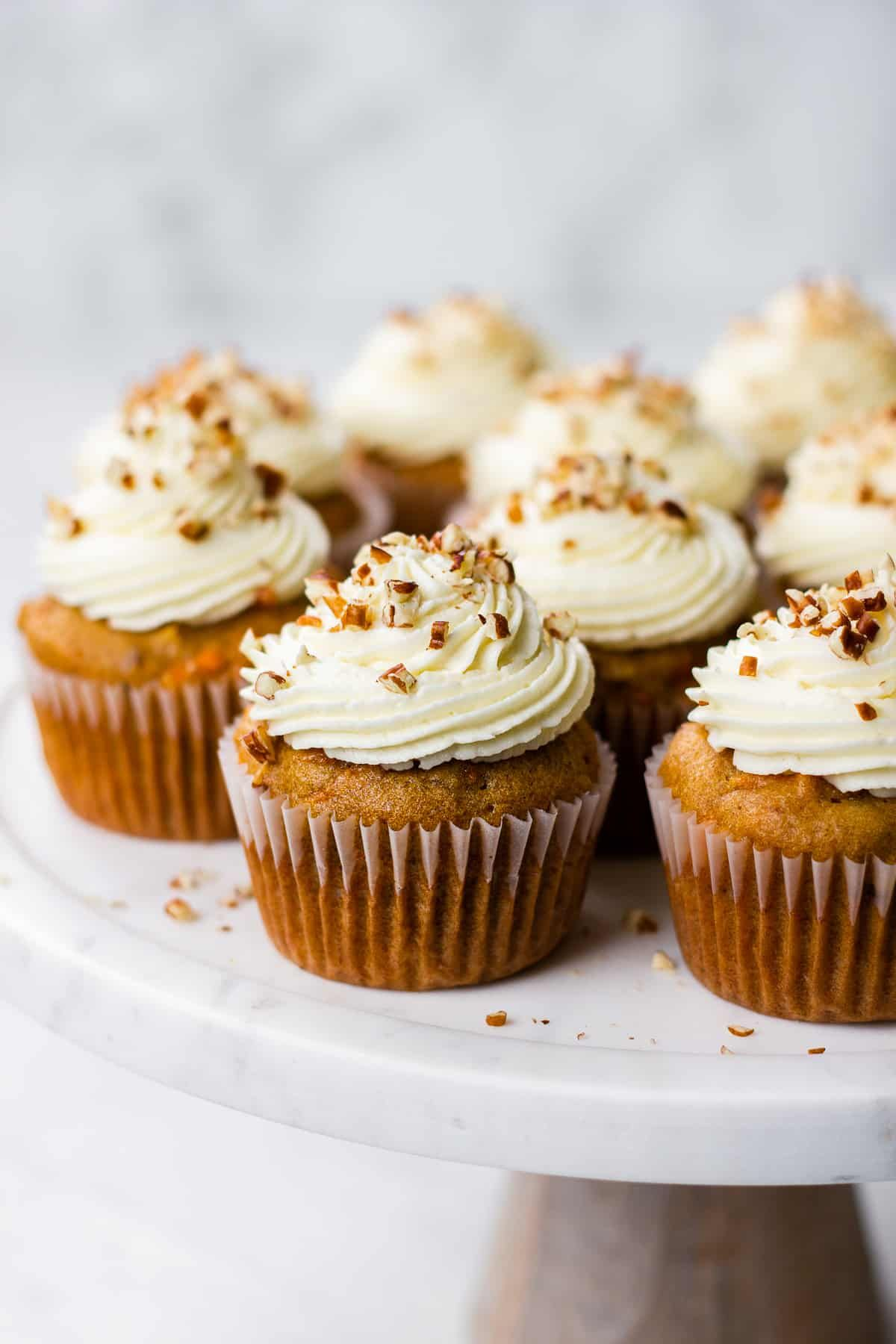 Carrot Cake Cupcakes with Cream Cheese Frosting | Veronika's Kitchen