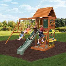 Toys | Big backyard, Backyard swing sets, Wooden playset