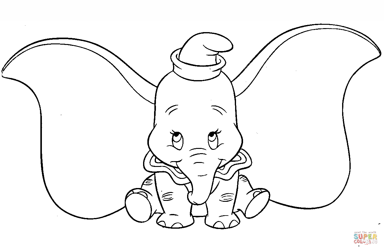 Cute Dumbo Coloring Page Free Printable Coloring Pages In 2020 Mermaid Coloring Pages Disney Colors Cartoon Coloring Pages