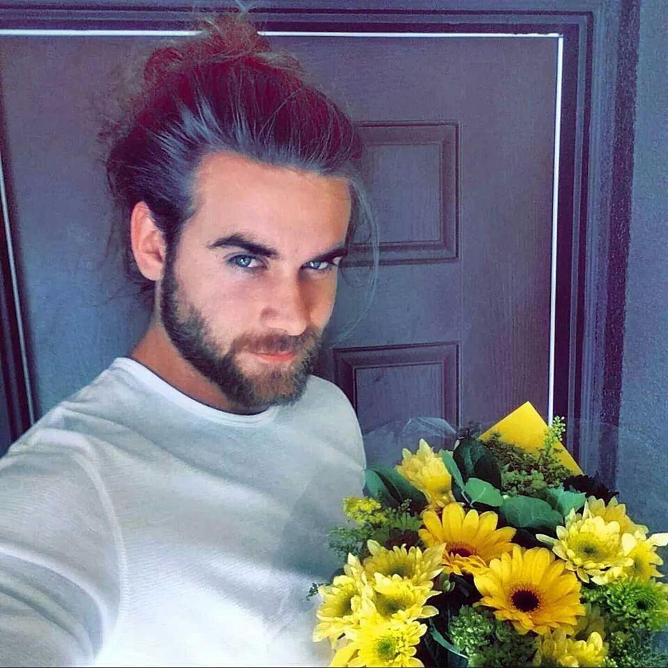 Brock O'Hurn Bringing Flowers To His Mom