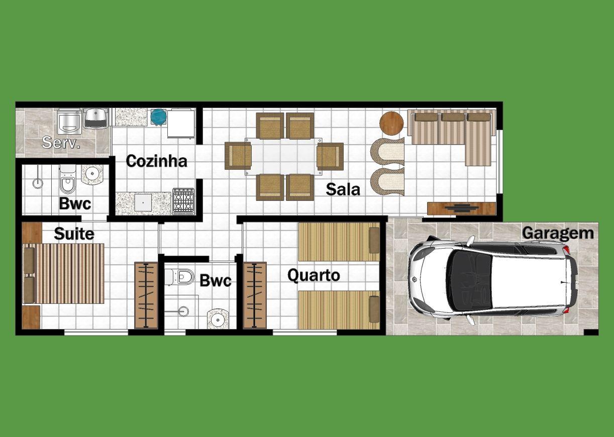 Planta De Casas Modernas Com 2 Quartos Avar Guia Avar Guia