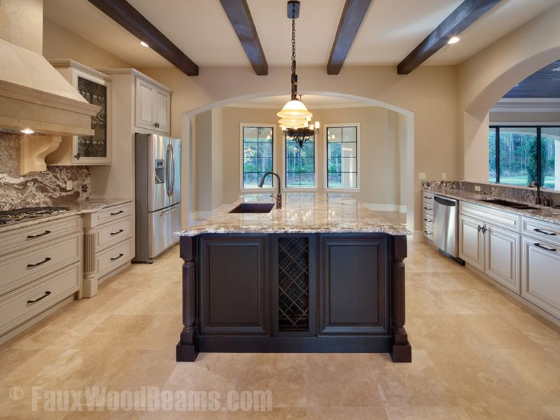 Fake Wood Beams Design Ideas And Photos  Full Gallery  Creative Amazing Kitchen Design Gallery Ideas Review