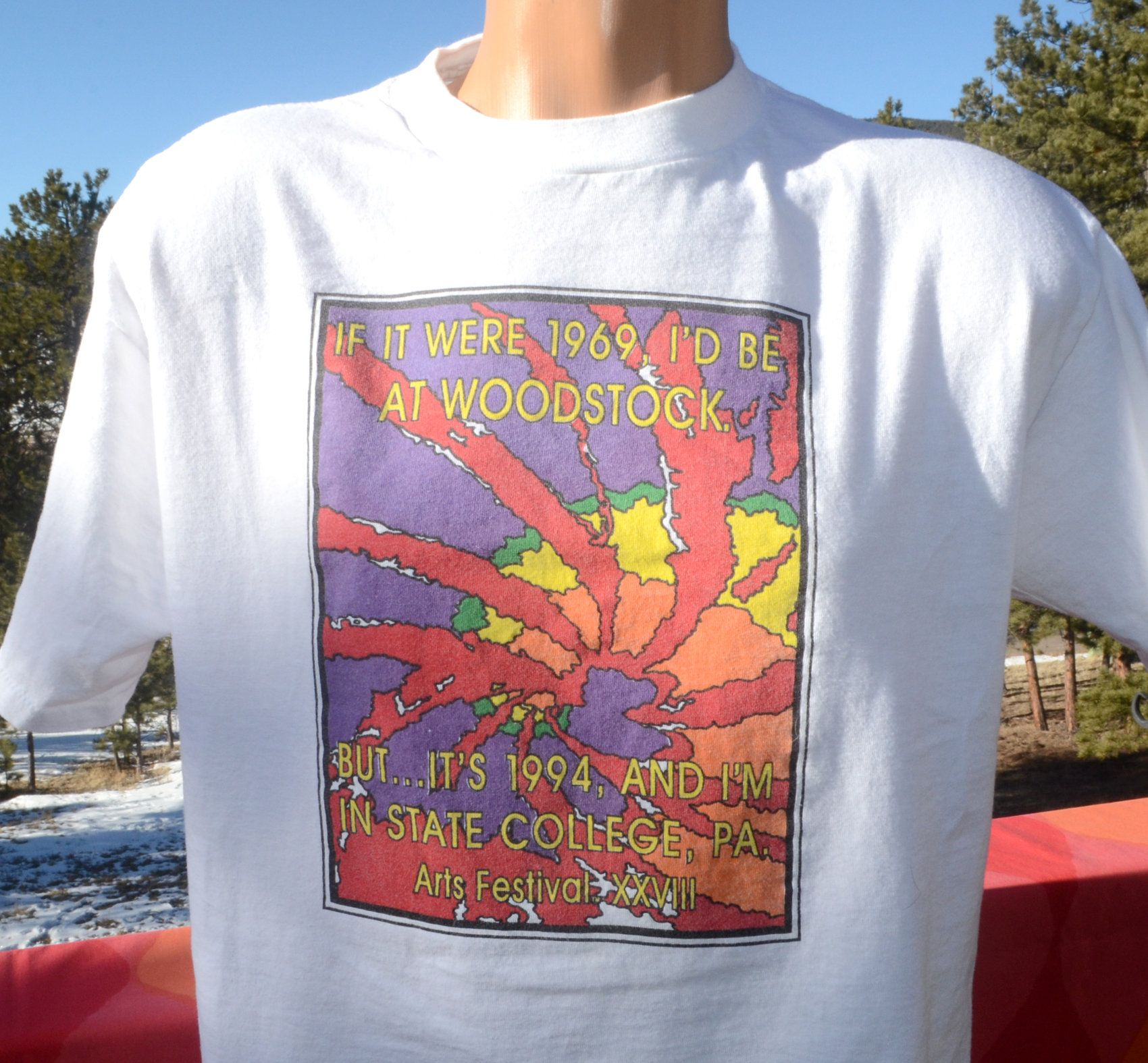 Vintage 90s T Shirt Woodstock Music Art State College Festival Etsy Woodstock Music Music Art Woodstock [ 1575 x 1700 Pixel ]
